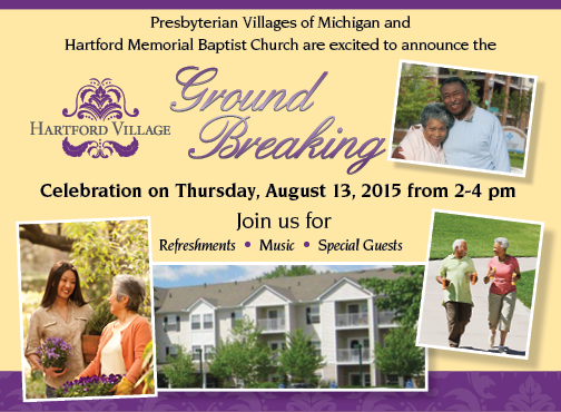 Hartford Village Ground Breaking Celebration